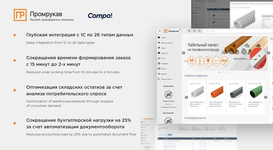 Личный кабинет B2B клиентов Промрукав