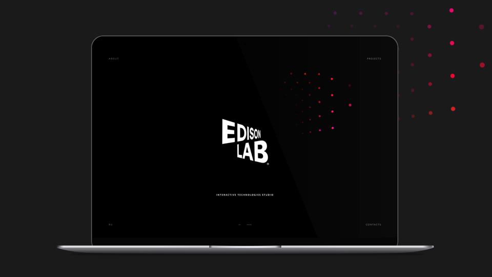 Сайт студии интерактивных технологий Edison Lab