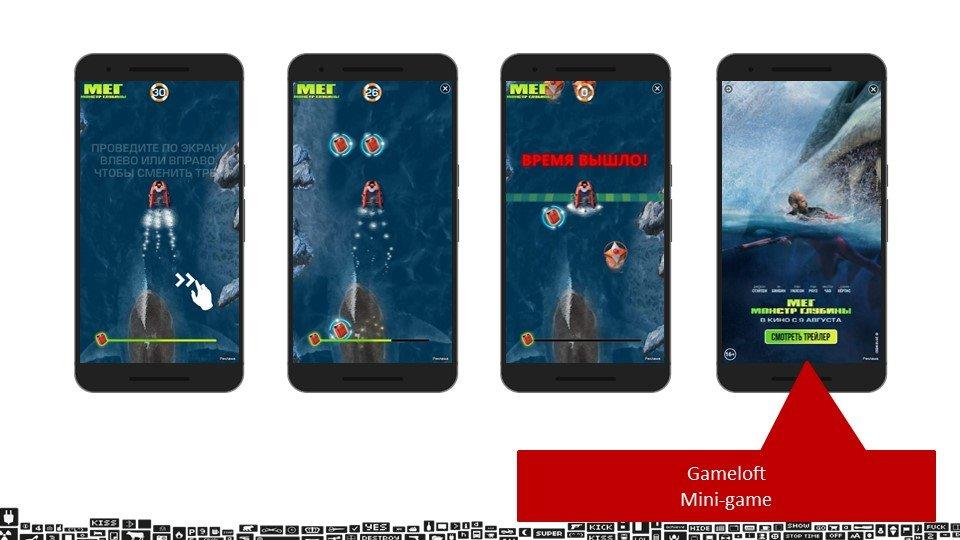 Кейс с интерактивными играми по продвижению фильма «МЕГ: Монстр глубины»