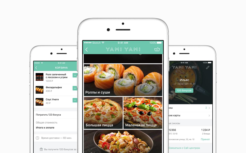 Разработка приложения для сервиса доставки еды Yami Yami