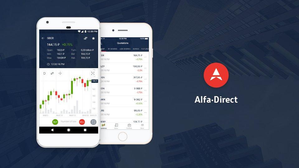 Разработка мобильного приложения для Альфа-Директ