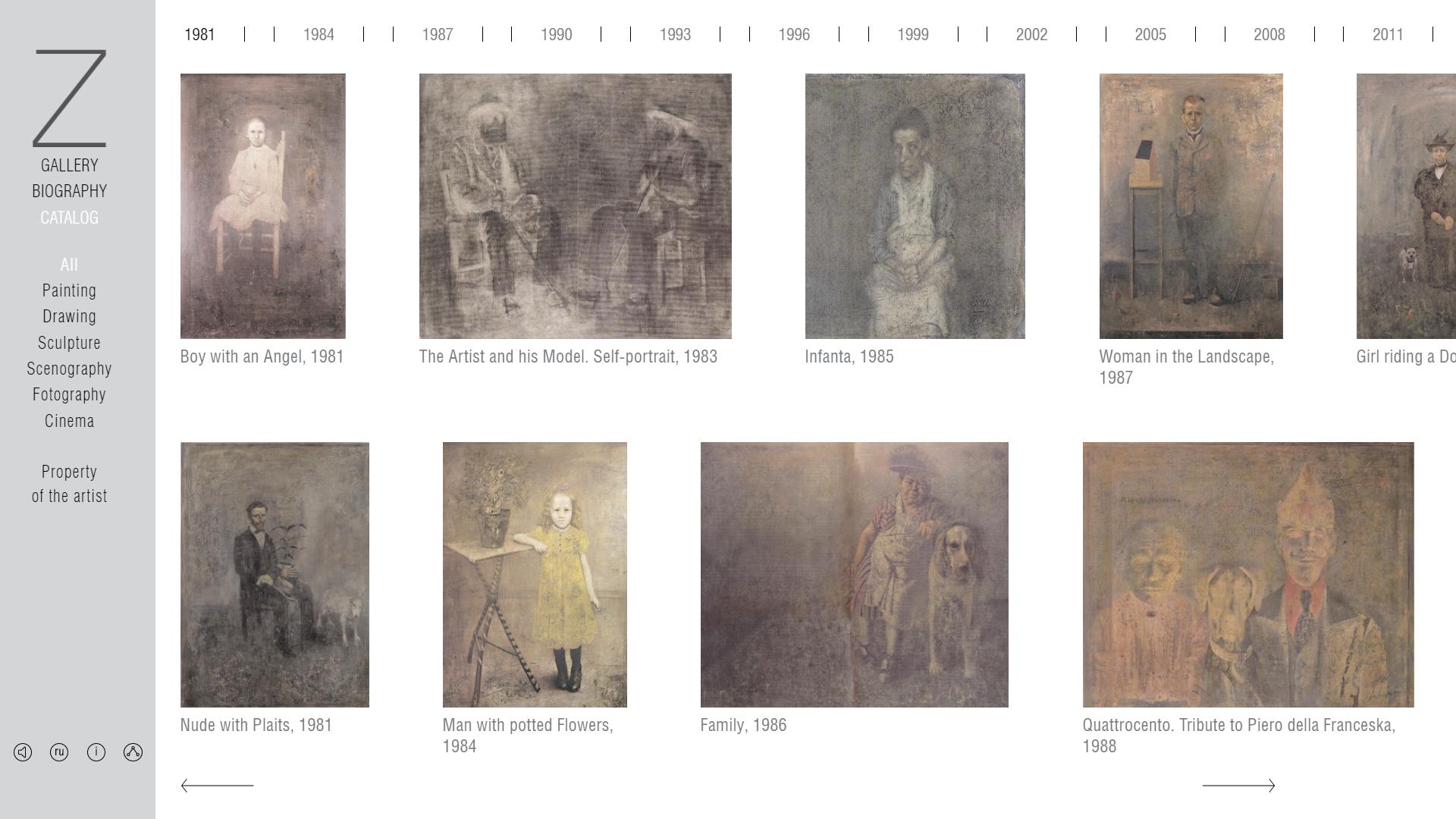 The personal website of the artist Boris Zaborov