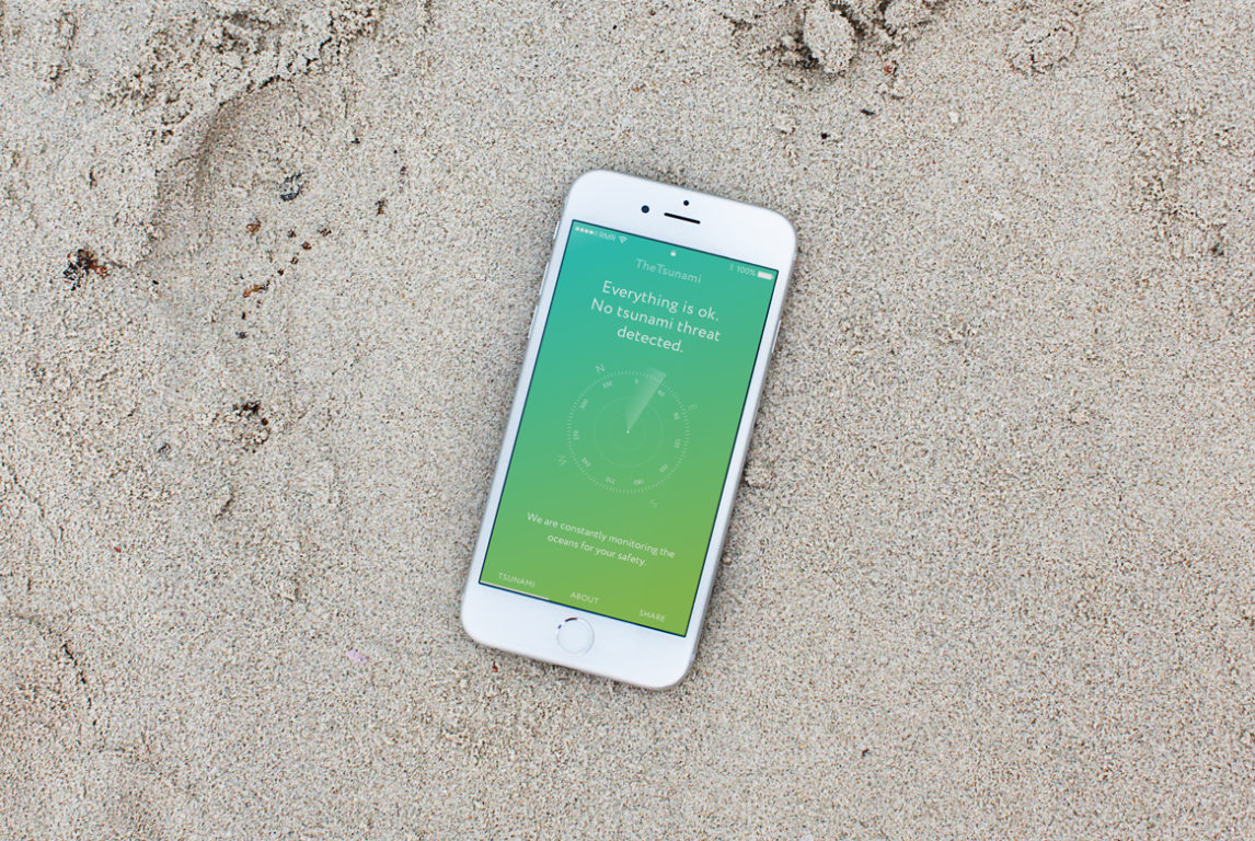 Дизайн приложения The Tsunami