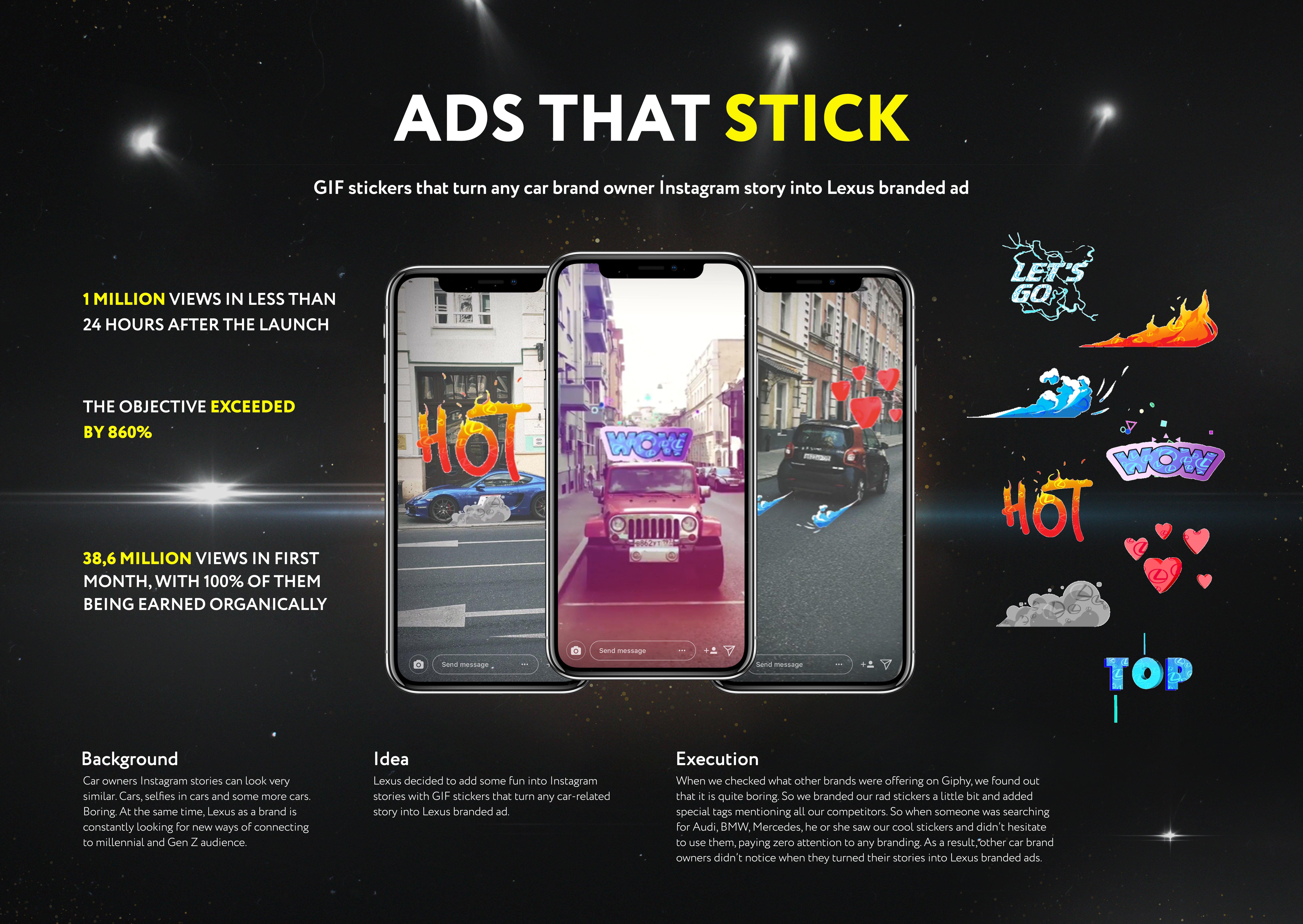 Брендированные GIF-стикеры Lexus