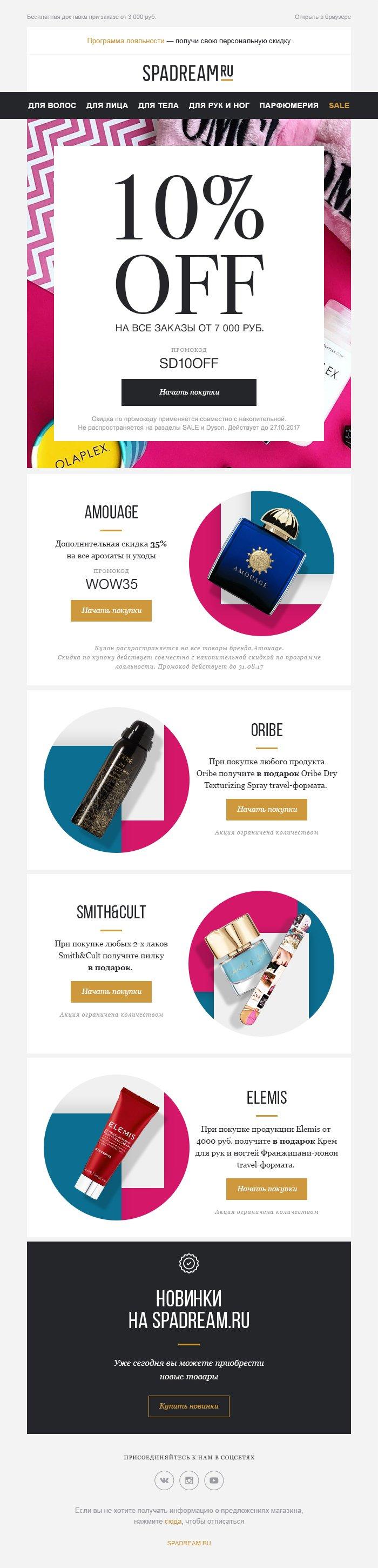 Внедрение email-маркетинга в компании Spadream.ru